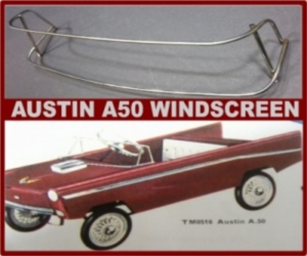 Tri-ang Austin A50 pedal car windscreen