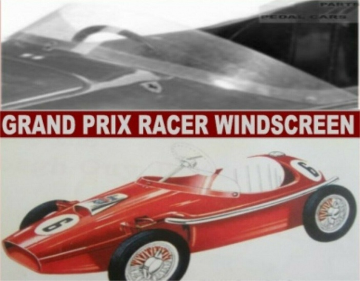Tri-ang Vintage Grand Prix Racer Pedal Car Windshield Windscreen