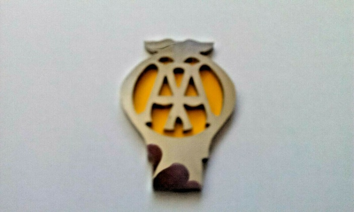 Tri-ang Vintage Pedal Car Miniature Metal AA Badge