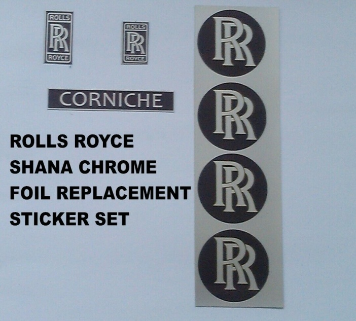 Tri-ang Vintage Shana Rolls Royce Corniche Pedal Car Graphics set