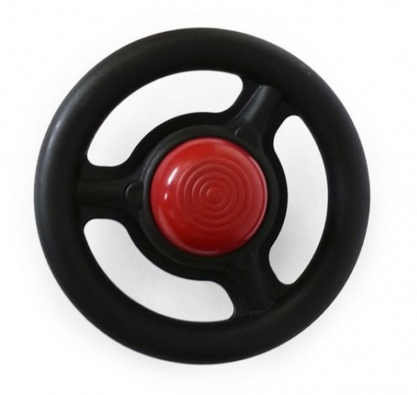 Side fitting plastic steering wheel with push horn